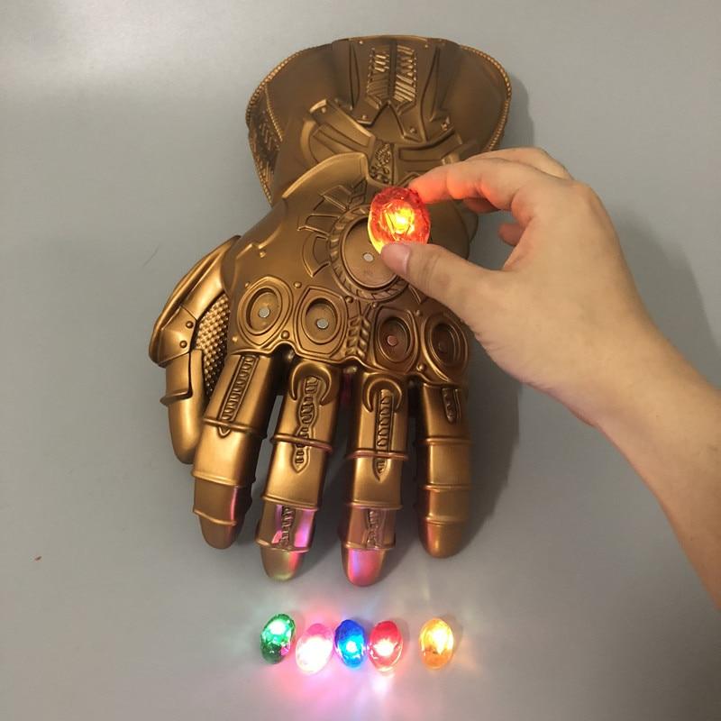 Spot 1: 1 LED Light Thanos Gauntlets War Gloves Cosplay Halloween Props Adult Children Glowing Gloves Endgame 4 Quantum Thanos