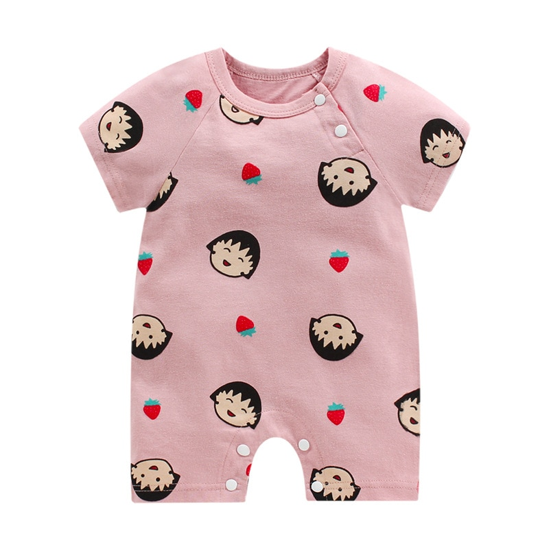 Summer New Baby One-piece Clothes Baby Cotton Short Sleeve Thin Newborn Rompers Jumpsuits Hot Sale W