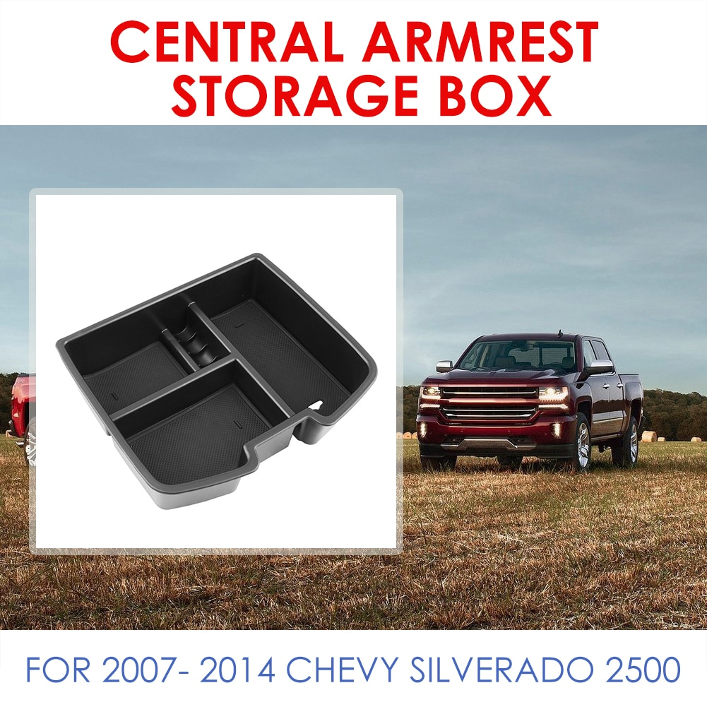 Bandeja de almacenamiento de apoyabrazos para consola, piezas personales, organizador de coche, decoración exterior para GMC Sierra 1500 2500 3500 Chevy Tahoe