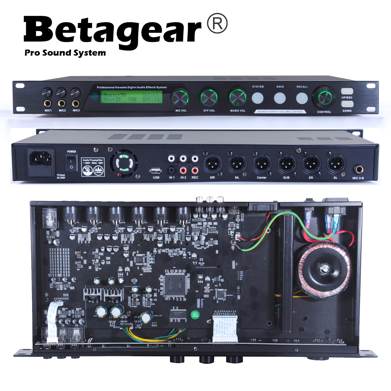 Betagear-sistema Profesional de sonido K16 PARA karaoke, preamplificador de ktv, equipo de...