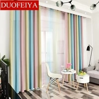 simple european curtains for living room stripe blackout curtains for bedroom chiffon terylene for dining room curtain yarn