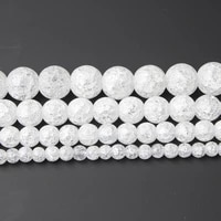 lanli 4681012mm natural white popcorn crystal stone loose beads diy fashion bracelet necklace jewelry accessories