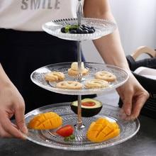 Wysokiej jakości europejskiej stojak na ciasto owoce przekąski przechowywanie żywności taca płyty 3 warstwy plastikowa płyta ślubne do pakowania na przyjęciu tace wystrój