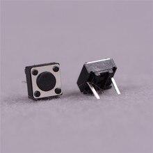50 piezas momentáneo táctil botón 2 Pin interruptor DIP 6x6x4,3mm alto 4,3mm