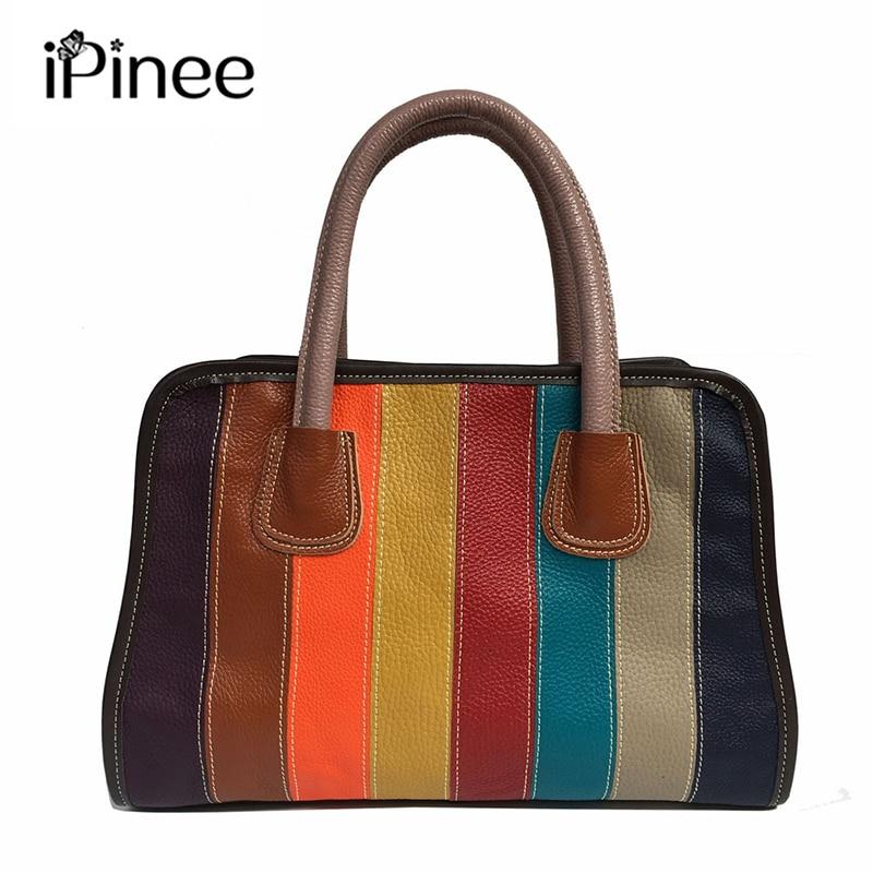 IPinee عالية الجودة للمرأة حقيقية حقائب يد جلدية حقيبة يد فاخرة حقائب نسائية ملابس علوية مميزة-حقائب بيد حقيبة ساعي