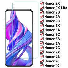 Защитное стекло 9D для Honor 9X Lite 9A 9C 9S, закаленное стекло для защиты экрана Honor 8X, 8A, 8C, 8S, 7A, 7C, 7X, 7S, 20i, 10i, 9i, стеклянная пленка