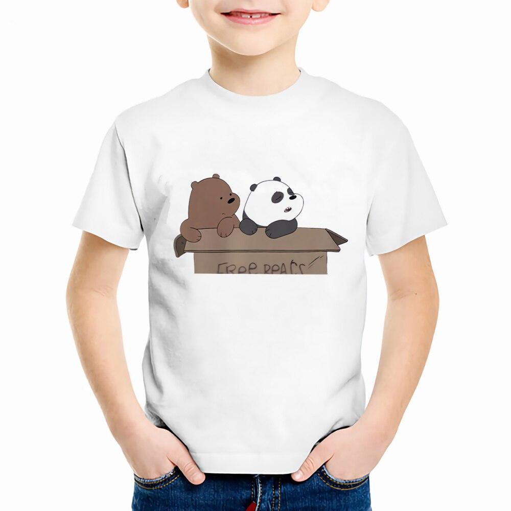 Cute Cartoon Bear Children Clothing T Shirt Girls Boys Crewneck Print T-shirt Kawaii Summer Children Short Sleeve Tops,YKP048