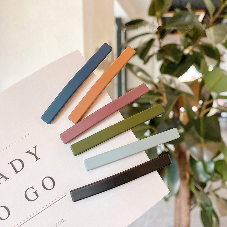 Solid Color Hair Clip for Women Korean Modal Side Clip Girl Hair Barrettes