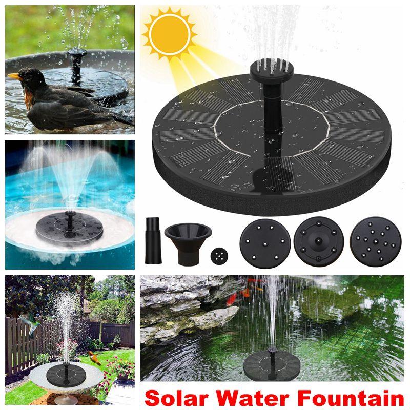 Fuente de agua Solar para piscina, estanque, cascada, decoración para jardín, Baño de aves al aire libre, fuente de energía Solar, agua flotante