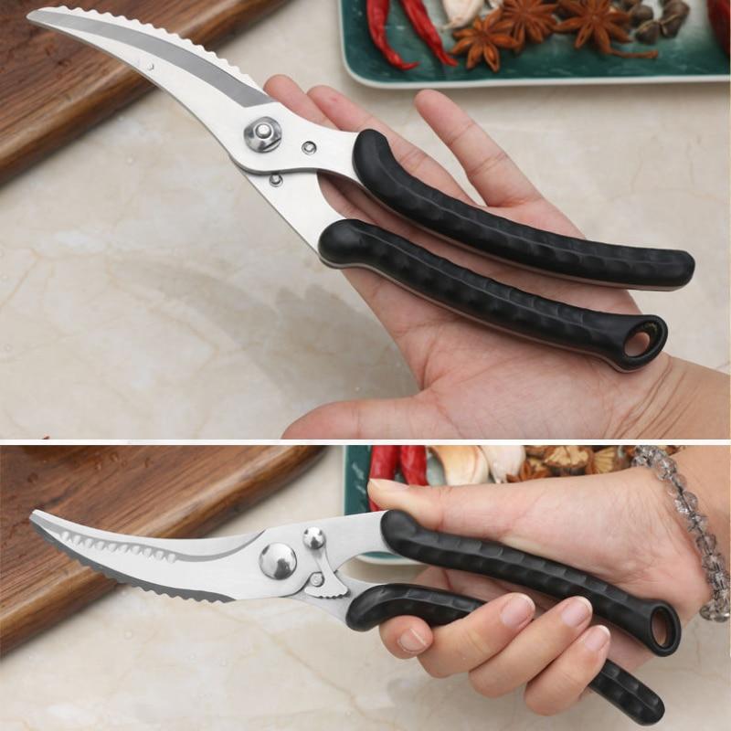 الدجاج العظام مقص مقص المطبخ الفولاذ المقاوم للصدأ مقص قوي مقص لأعمال المنزل مصنع المخرج