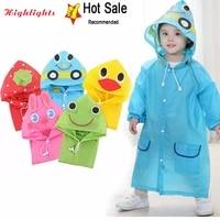 1 10 years old children raincoat kids boys girls waterproof jumpsuit hooded one piece cartoon dinosaur baby rainwear