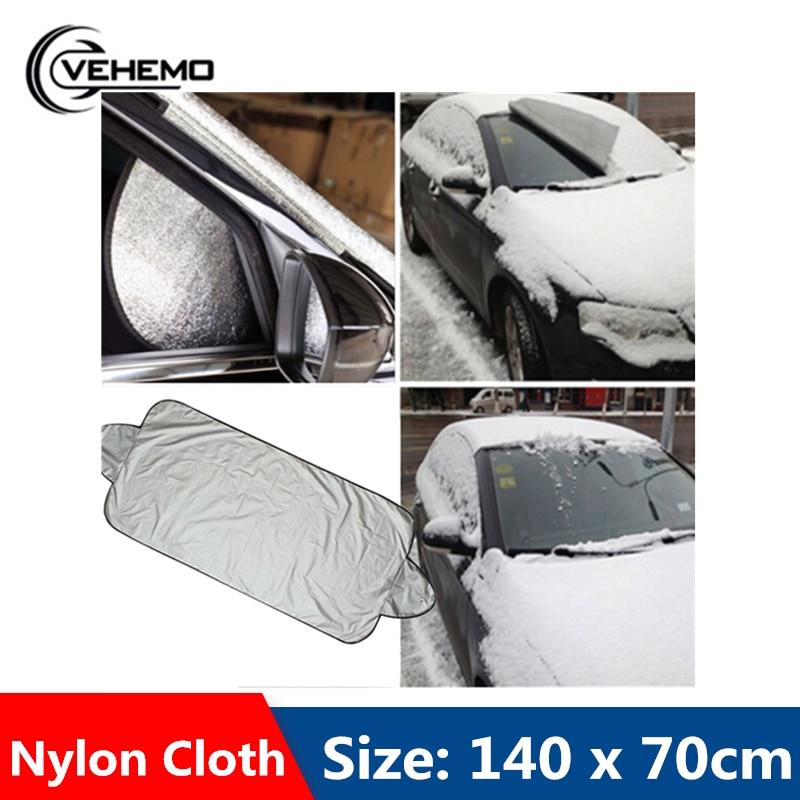 Cubierta de parabrisas, cubierta protectora de nailon para coche inteligente, cubierta de nieve para parabrisas, 140x70CM, a prueba de lluvia y a prueba de nieve