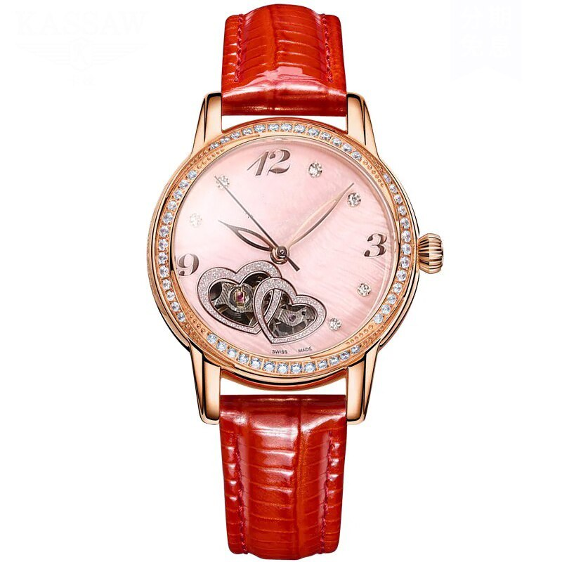Women's Mechanical Watch Luxury Woman Fashion Heart-Shaped Hollow Mechanical Watches Brand Women's Automatic Watch enlarge
