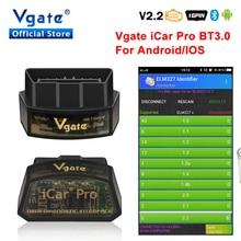 Vgate iCar pro ELM 327 Bluetooth OBD2 сканер диагностики автомобиля elm327 сканирующий инструмент автомобильный диагностический инструмент OBDII сканер automotivo
