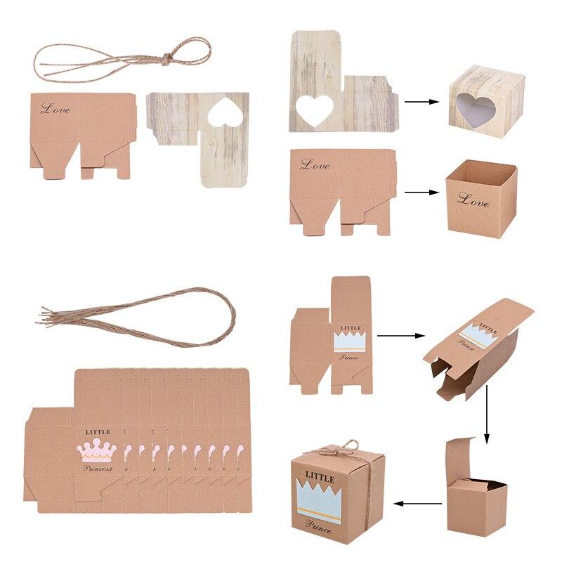 Купить с кэшбэком Kraft Paper Box Thank You Candy Boxes Mini Pillow Shape Wedding Favors Gift Box for Thanksgiving Birthday Eater Party Supplies