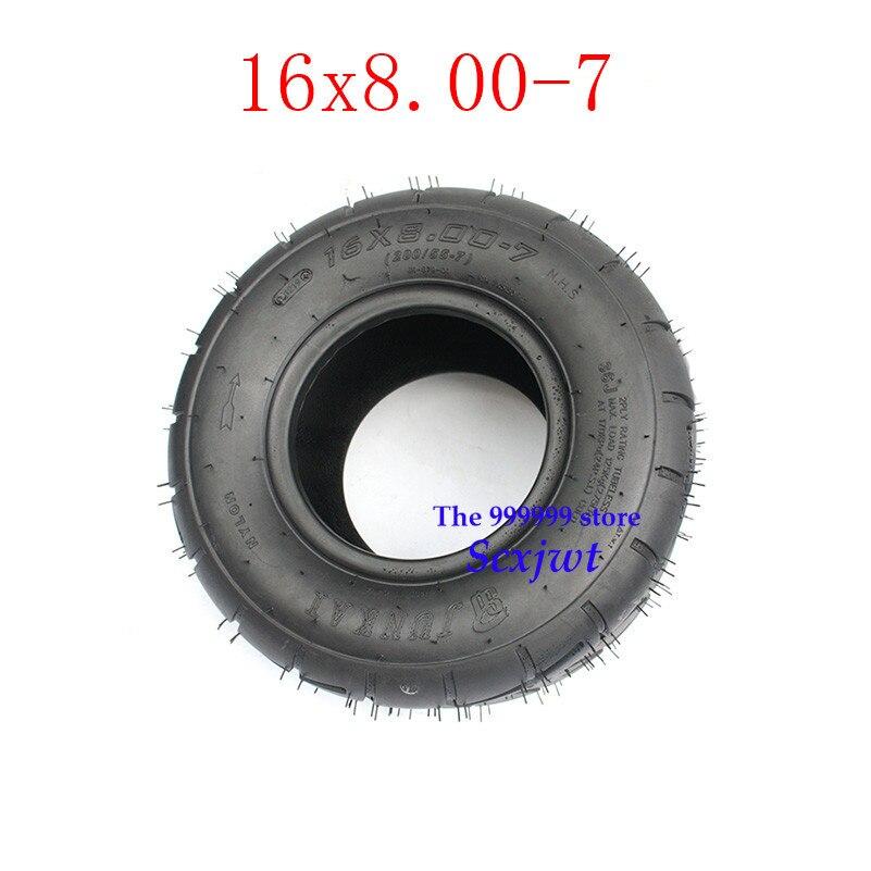 2PCS 16x8. 00-7 16X8-7 ATV Go-kart pneu sem câmara de ar para o carro de Praia wear-resistant estrada pneu vazio quatro -roda de pneu ATV