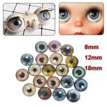 10 çift cam bebek gözler hayvan DIY el sanatları gözbebekleri dinozor göz aksesuarları takı yapımı el yapımı 8mm/12mm/18mm