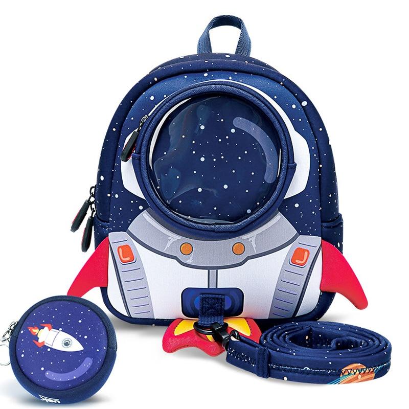 3D Rockets Anti-lost School Bags For Girls Cartoon high-grade Toy Boys Backpack Kindergarten Bags Ch
