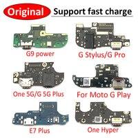 Оригинальное зарядное устройство USB для телефона, гибкий кабель для Moto G9 Power G Stylus Pro One G порт платы E7 Plus Hyper Play G30 G50