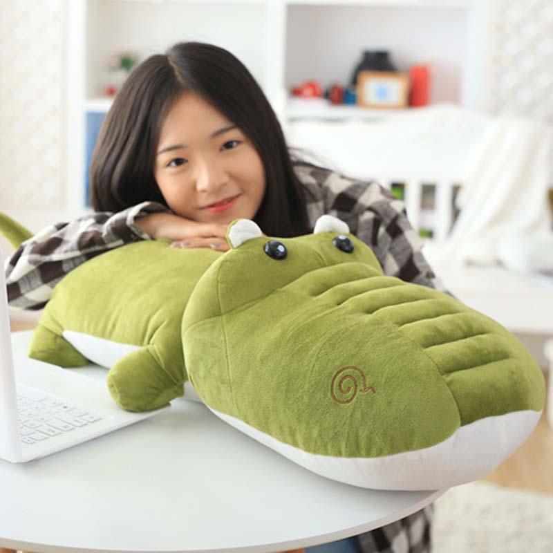 Simulation Bread Crocodile Decorative Cushion for Sofa Chair Plush Toys Stuffed Doll Kids Room Decor Throw Pillows Back Cushions