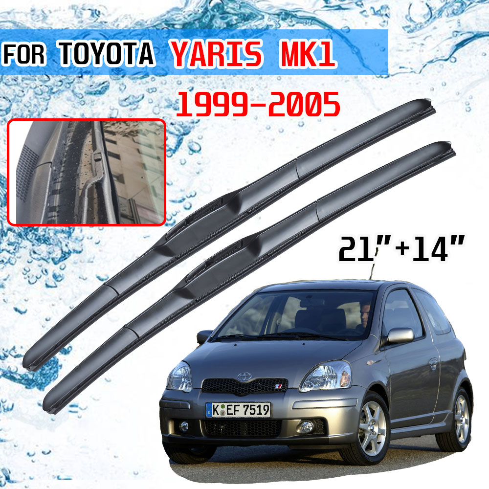 For Toyota Yaris MK1 1999 2000 2001 2002 2003 2004 2005 Accessories Front Windscreen Wiper Blade Brushes Wipers for Car Cutter