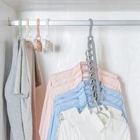 Multi-port Plastic Clothes Hangers Closet organizer Hangers Support Circle Space Saving Clothes Rack