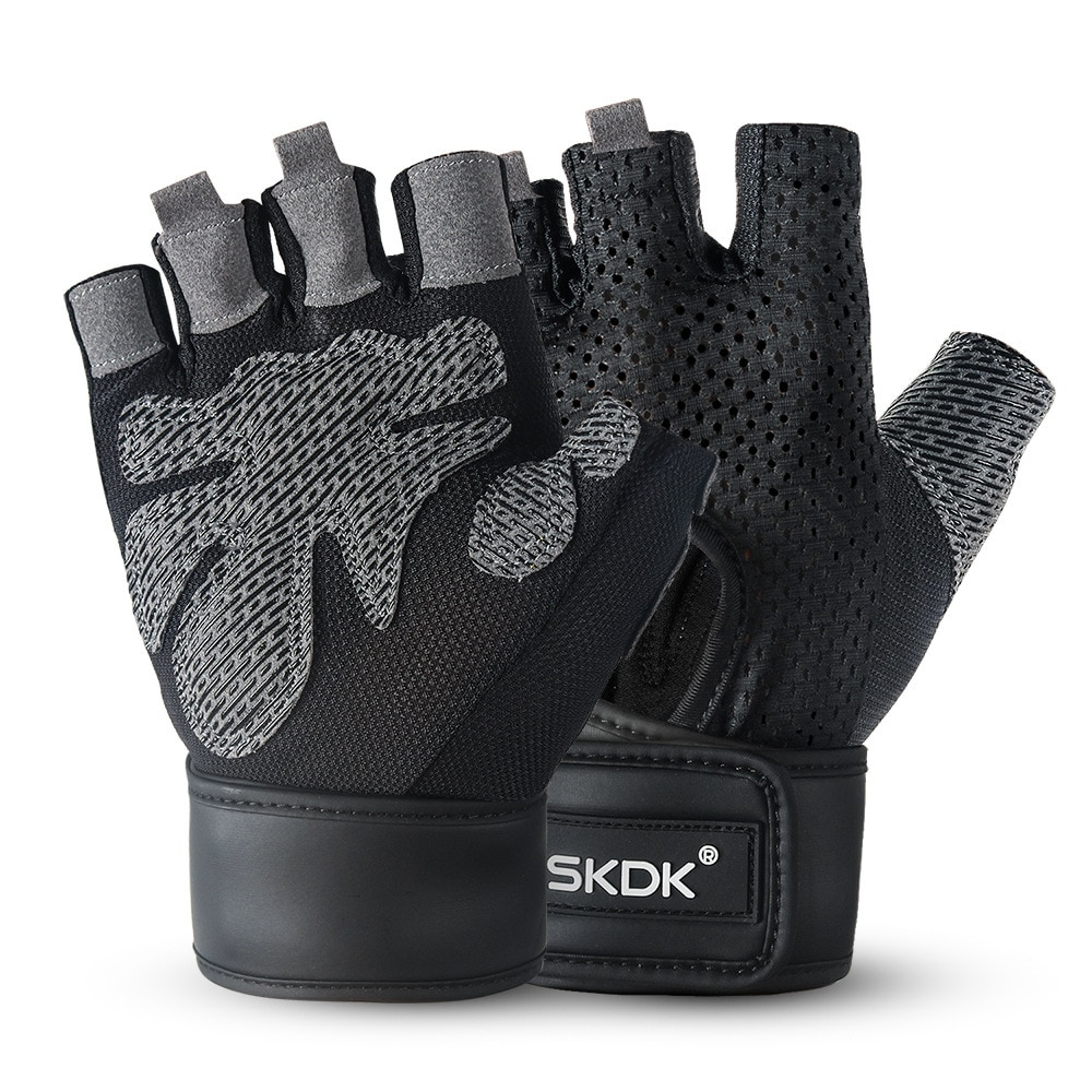 Half Finger Cycling Gloves Fitness Compression Wrist Protector Sweat Absorbent Non-Slip Hand Protector Outdoor Sports Gloves the new black hawk skid protector gloves fitness means