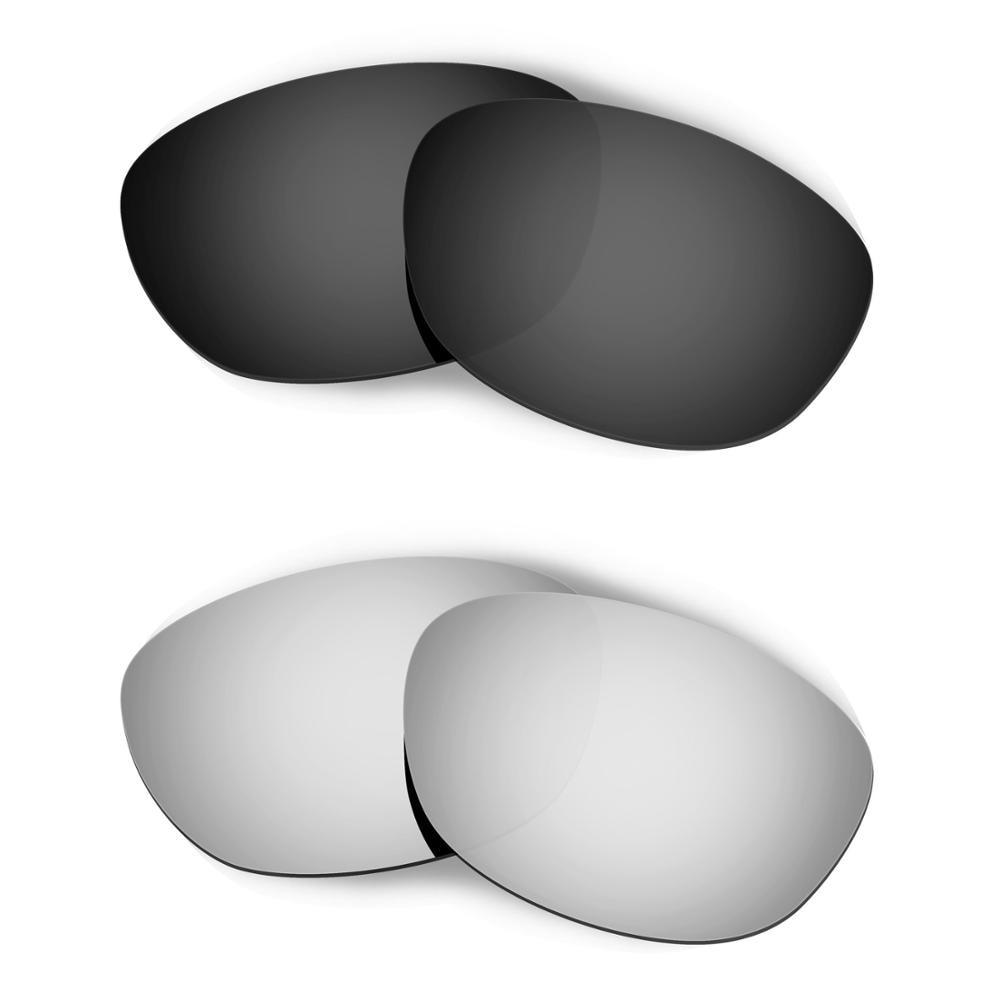 HKUCO لفيفس 2.0 النظارات الشمسية استبدال العدسات المستقطبة 2 أزواج-الأسود والفضي