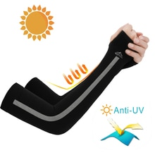 1 Pair Ice Silk Sleeves Sun Protection Summer Uv Protection Arm Guards Men and Women Outdoor Sports