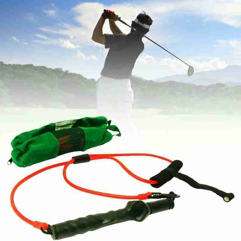 Golf Swing Tension Belt Trainer Strength Trainer Action Swing Device Trainer Golf Strong Band Correction Club Supplies Golf A2K7