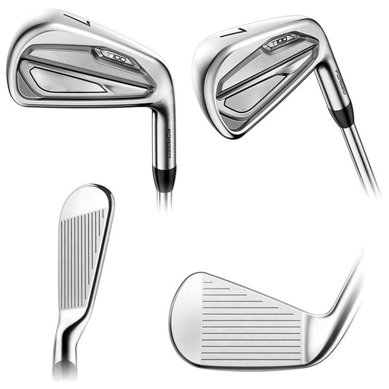 T100 Golf Iron Clubs 3-9P  R / S Golf Iron Set, Stretch Head with Head Cover
