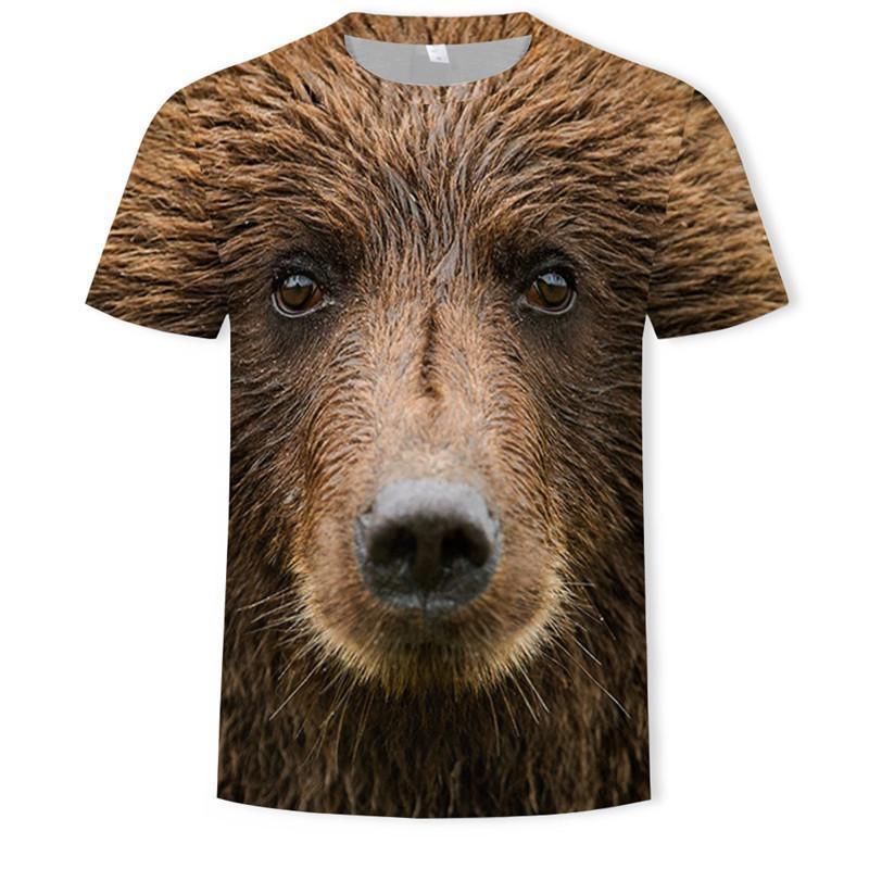 Camisetas con estampado 3D de Mono para hombre camiseta de manga corta...