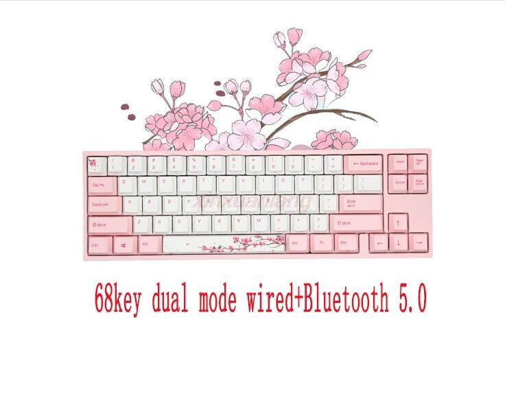 Varmilo MYD68 ساكورا زهر الكرز لوحة المفاتيح الميكانيكية الوردي الكرز MX التبديل لعبة مكتب بلوتوث لوحة المفاتيح اللاسلكية