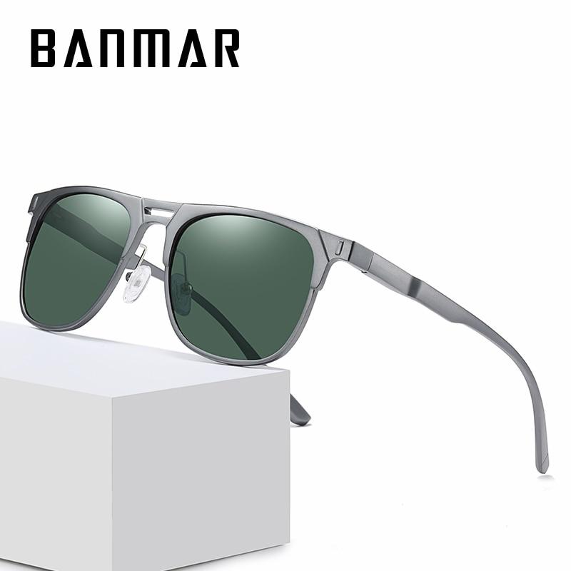 Поляризованные солнцезащитные очки BANMAR, мужские модные квадратные солнцезащитные очки в стиле ретро для вождения и рыбалки, дорожные антиб...