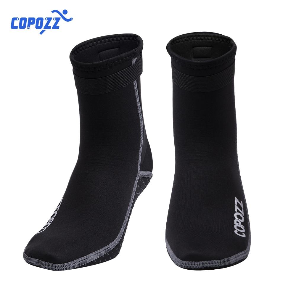 Copozz 3 мм Неопреновые Пляжные Носки для плавания и дайвинга, водонепроницаемые спортивные нескользящие носки для плавания, серфинга, дайвинга, серфинга, пляжные ботинки