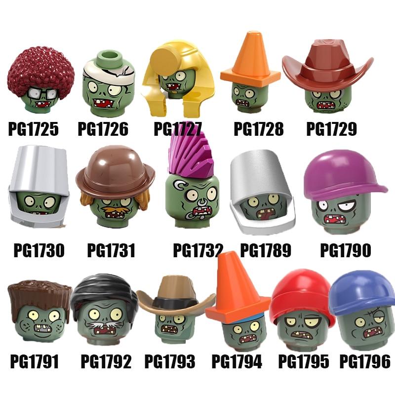 Venta única de plantas vs. Zombies bloques de construcción Conehead cubo baile callejero béisbol Cowboys figuras para niños juguetes PG8205