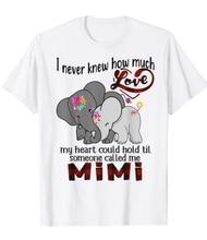 Eu nunca soube até que alguém me chamou mimi elefante hippie t camisa