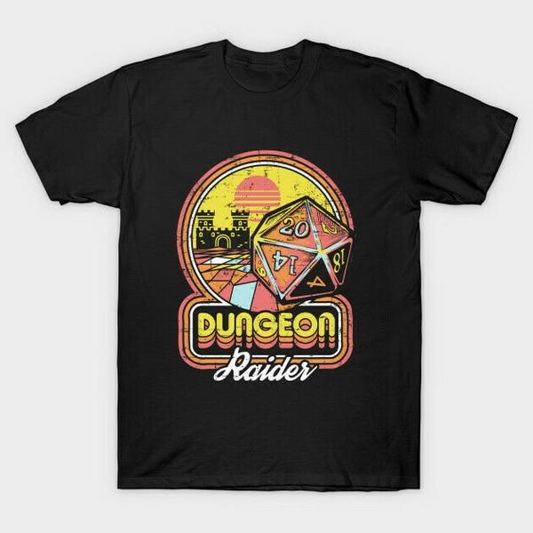 Calabozo Raider Rogue druida los curanderos de Juegos Retro Vintage negro S-3Xl Camiseta de manga corta Camiseta