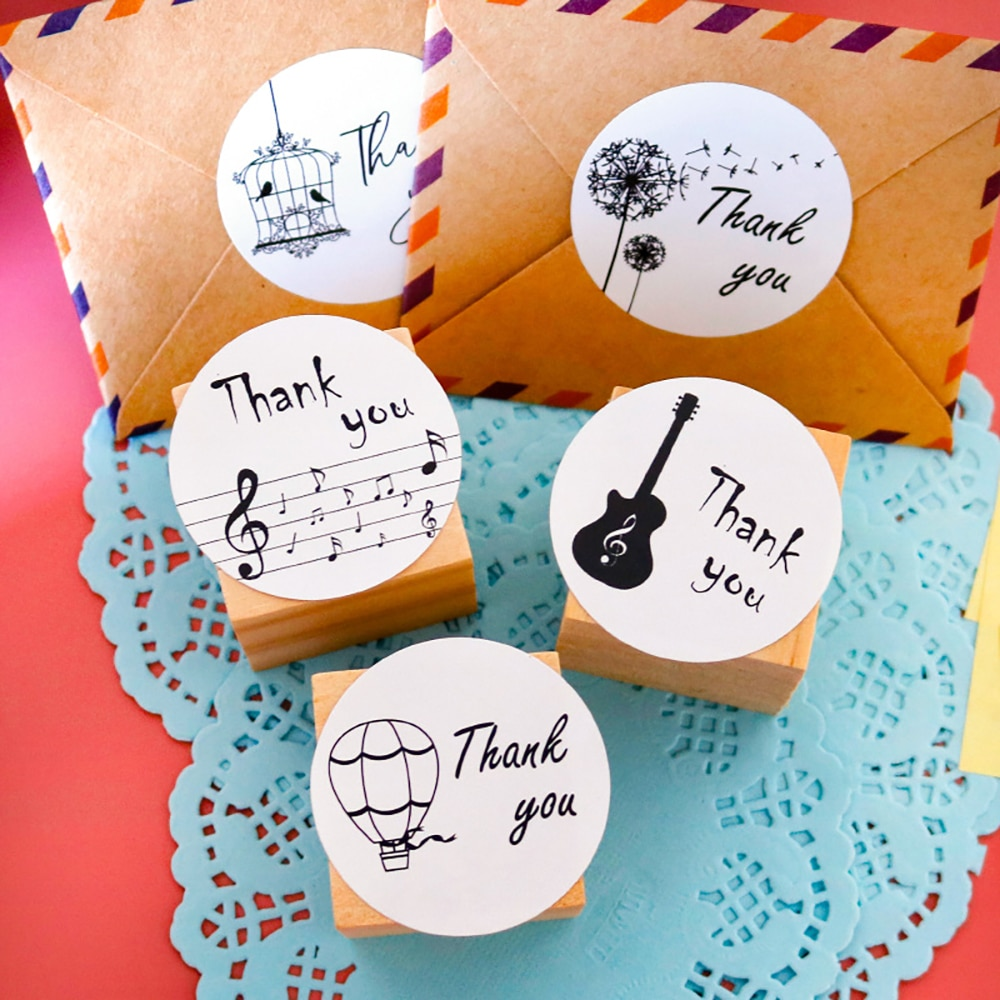 120Pcs/10 sheets 3.5cm Thank You Sticker Label Festival Stationery Party Decorations Gift Seals Stickers DIY Scrapbook Supplies недорого