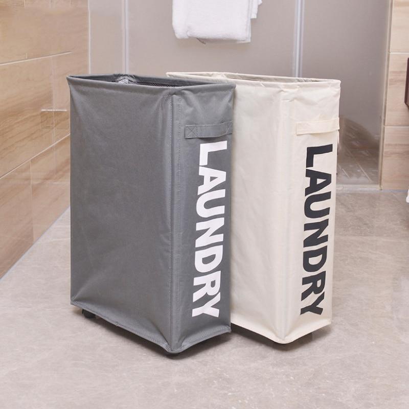 Caixa de Armazenamento Único Dobrável Grade Pano Roupas Liga Alumínio Quadro Bolsos Arte Artigos Domésticos Sujas Cesta