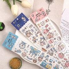 Mohamm 65mm x 390mm bande dessinée Washi ruban de masquage caractère Simple créatif Scrapbooking papeterie fournitures scolaires décoration