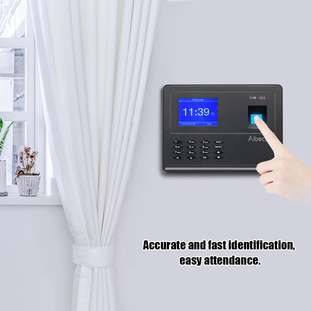 آلة حفظ بصمات الأصابع البيومترية ، ومسجل رقمي متعدد اللغات ، ودعم USB ، ونقل البيانات