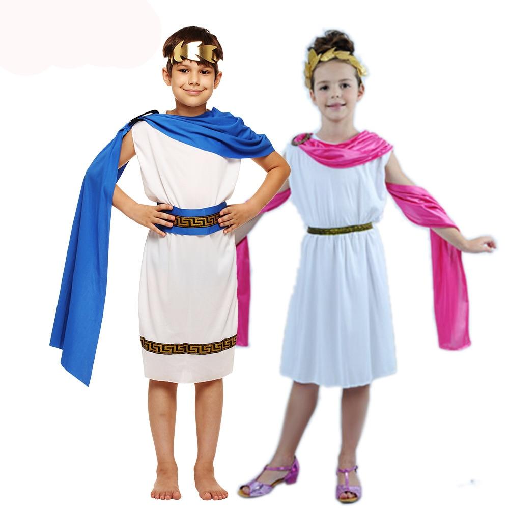 زي أطفال من Umorden ، Grecian Toga ، للأولاد والبنات, زي الهالوين ، حفلة ماردي غرا ، أزياء تنكرية