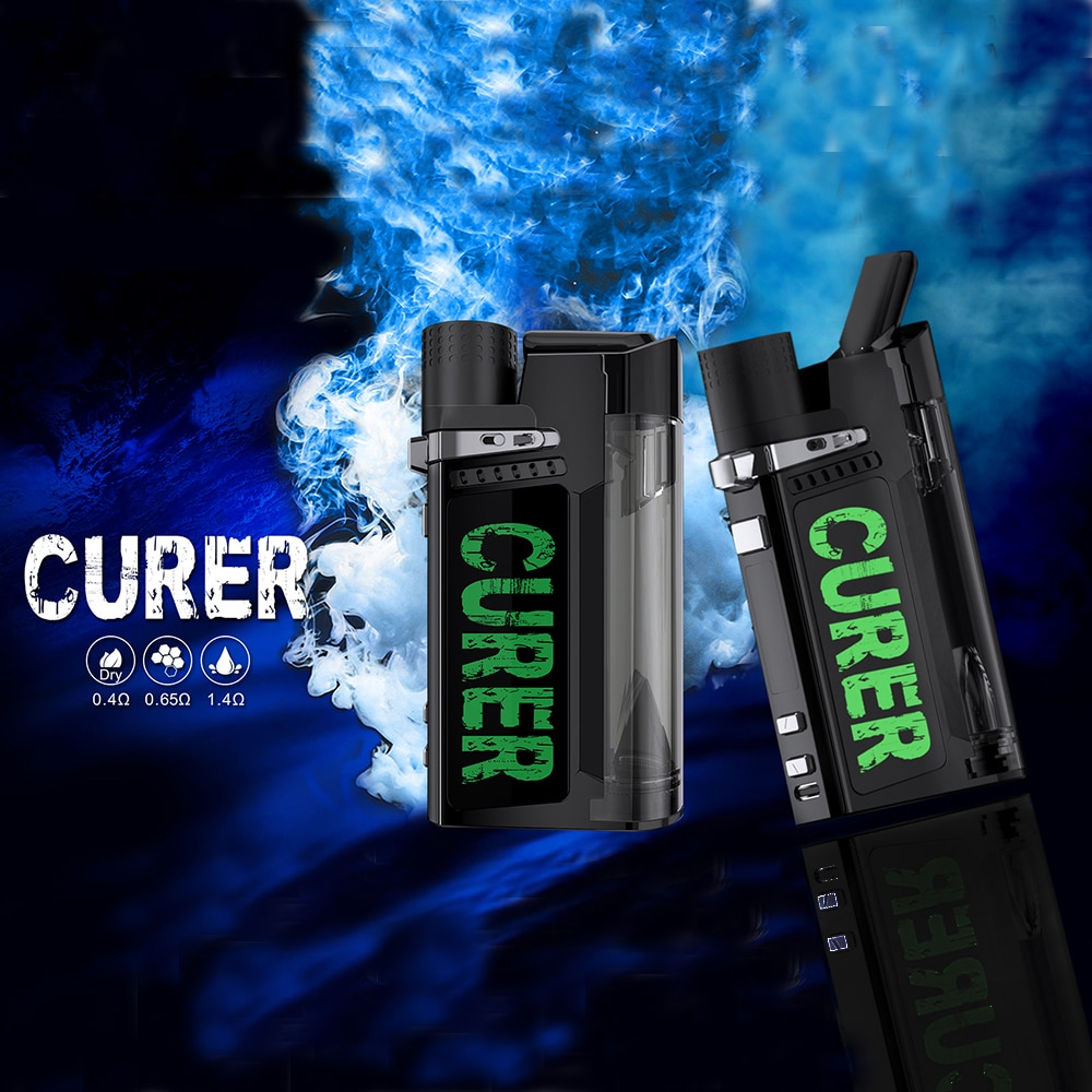 3 in1 Curer Electric Dab Rig Kit 1500mah Battery With Power /Temperature 2 Control Mode For Dry Herb Oil Wax Concentrate
