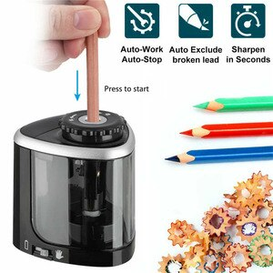 Electric Pencil Sharpener Mechanical Auto Safe Student Helical Steel Blade Colored Pencils Sharpener For Artists Kids Adults