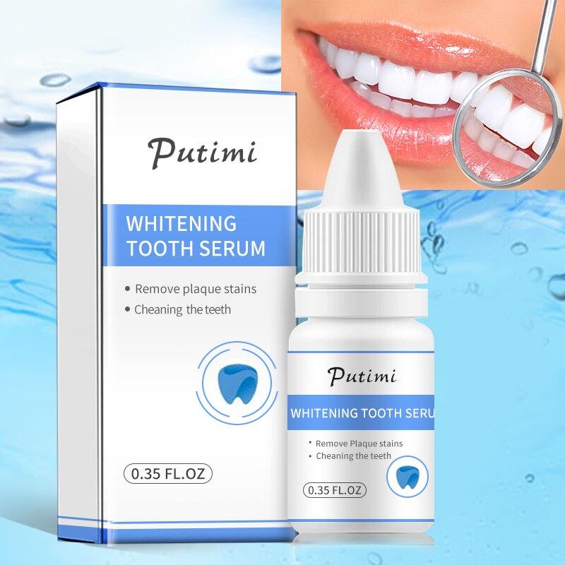Сыворотка PUTIMI для отбеливания зубов, сыворотка для удаления пятен от зубного налета, свежего дыхания, гигиена полости рта