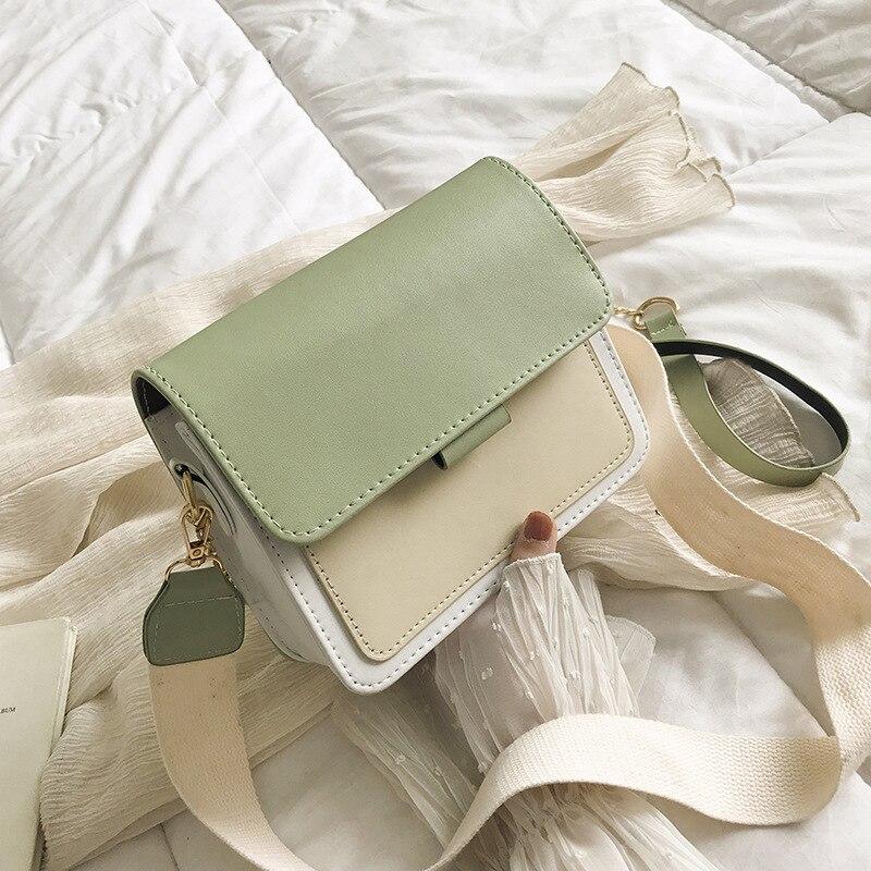 New Small Flap Crossbody Bags For Women 2021 Summer PU Leather Shoulder Messenger Bag For Girl Handbag Bolsas Ladies Phone Purse