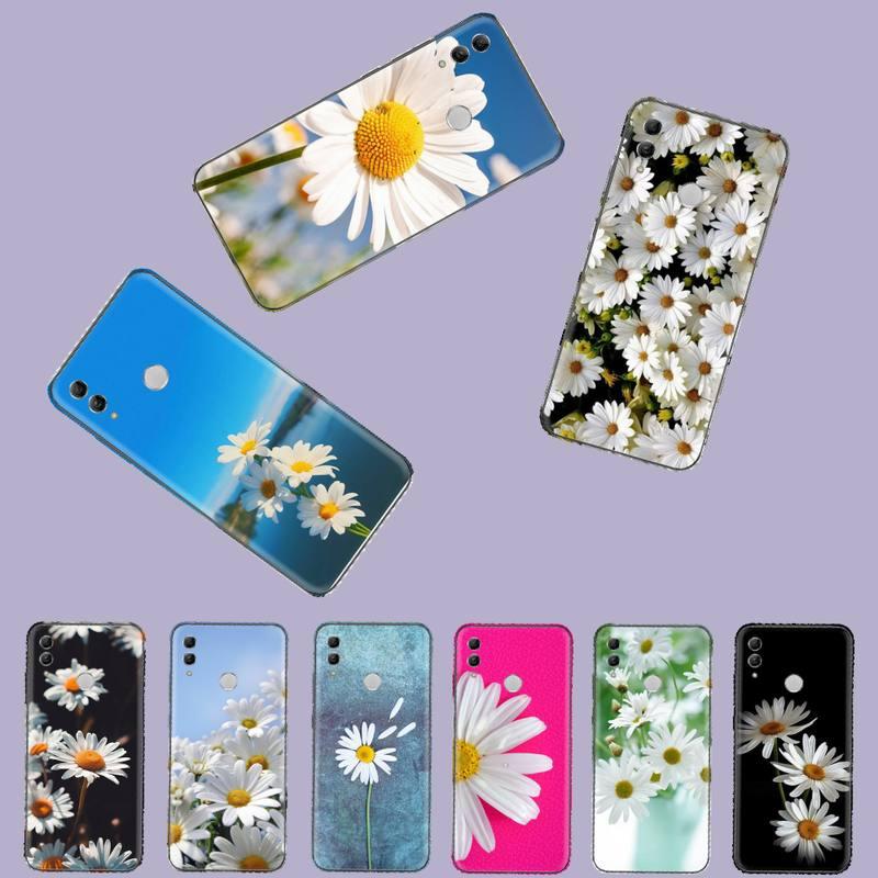 Funda de teléfono móvil Margarita flores coque funda bape para Huawei Honor 7C 7A 8X 8A 9 10 10i Lite 20 NOVA 3i 3e