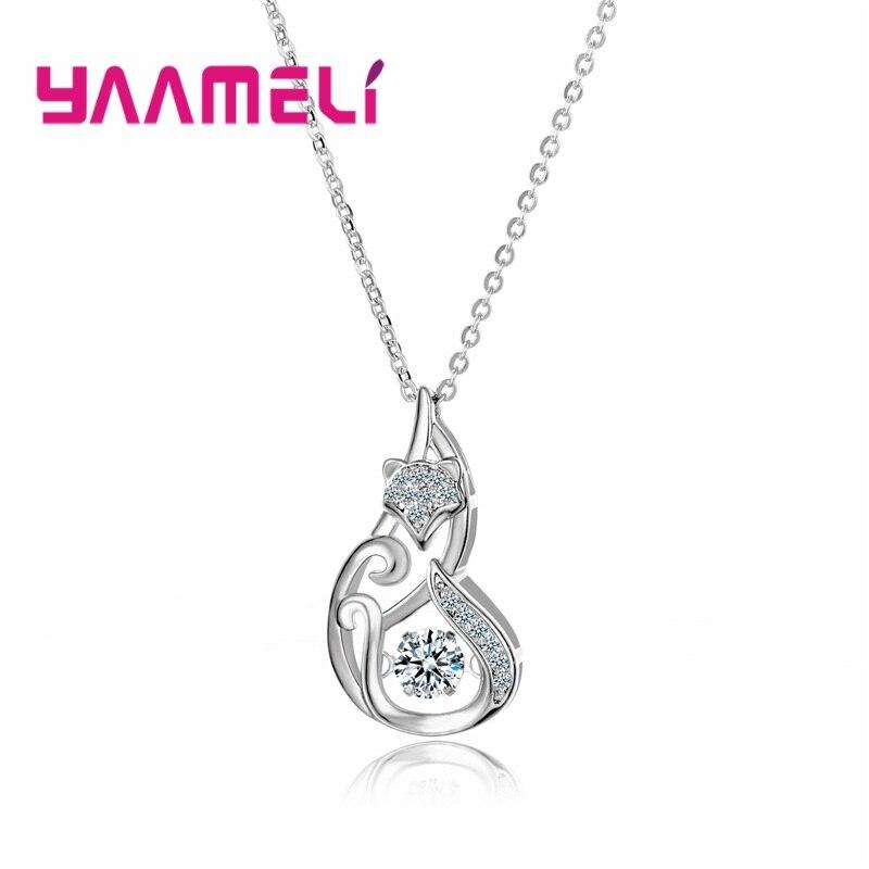 Распродажа-милый-кулон-ожерелье-подарок-ювелирное-изделие-для-женщин-для-девочек-на-Рождество-день-рождения-Стерлинговое-Серебро-925-пр