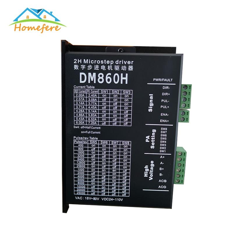 Carcasa de motor paso a paso CC sin escobillas Microstep DM860 para Motor paso a paso 57 86 Nema23 Nema34 para máquina de grabado CNC